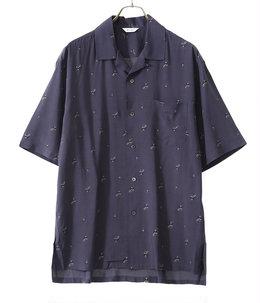Short Sleeves Open Collar Shirt