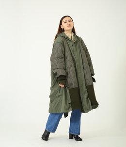 【レディース】circa make triangle switching m-51 coat