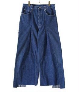 【予約】circa make wrap back wide demim pants