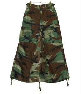 【予約】circa make length adjustable camo skirt