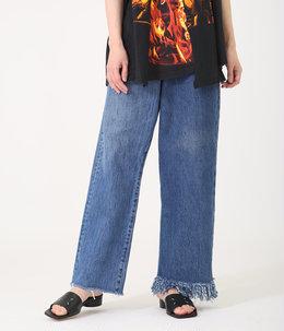 【レディース】circa make fringe denim pants[span100]