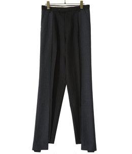 【予約】circa make pleats cutback wide slacks