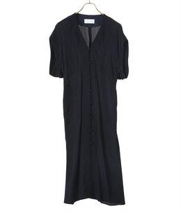 【レディース】Melange Stripe V-Neck Dress