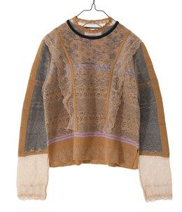 【レディース】Cocoon Layered Knit Pullover