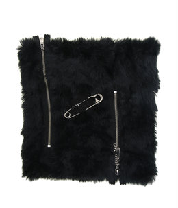synthetic fur neck warmer.