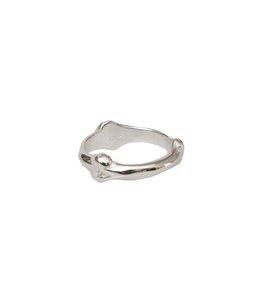 bone shaped band ring.