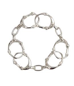 bone shaped carabiner bracelet.-S