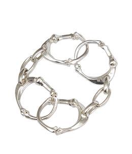 bone shaped carabiner bracelet.-L