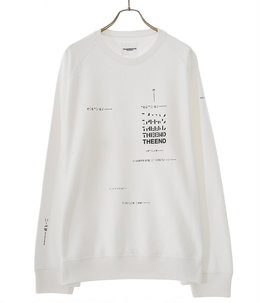 oversized geometric morse code crew neck sweatshirt.