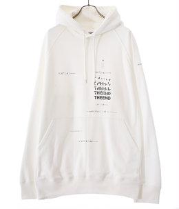 oversized geometric morse code hoodie.